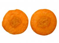 Plasterki marchewki jak oczy
