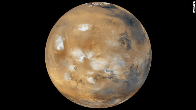 Water-ice clouds, polar ice and other geographic features can be seen in this full-disk image of Mars from 2011. NASA's Mars Curiosity Rover touched down on the planet on August 6. Take a look at stunning photographs of Mars over the years. a href='http://www.cnn.com/2012/08/14/tech/gallery/mars-curiosity-rover/index.html' target='_blank'Check out images from the Mars rover Curiosity/a.