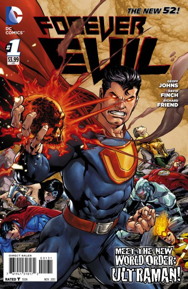 A Forever Evil No. 1 variant cover by Ivan Reis features Ultraman. (DC Comics)