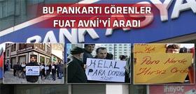 Bank Asya'ya destek için gelen vatandaşlardan ilginç pankart