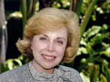 ** FILE ** In this Sept. 1, 1987, file photo, Dr. Joyce Brothers takes a break from a busy schedule in Los Angeles to talk about her upcoming television series, The Psychology Behind the News. Brothers died Monday, May 13, 2013, in New York City, according to publicist Sanford Brokaw. She was 85. (AP Photo/Nick Ut, File)