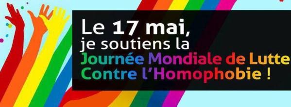 Le 17 mai, ensemble contre les homophobes