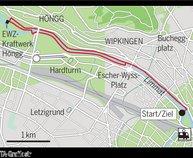 Vier ausgewählte Jogging-Routen durch Zürich